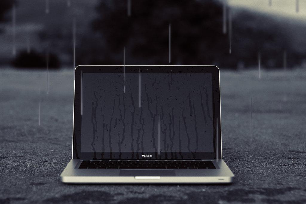 Если на ноутбук попала вода